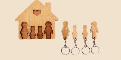 Ключница Мама, папа, дочь , дочь