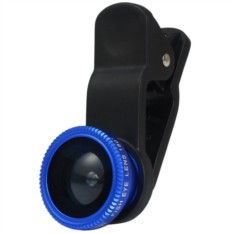 Объектив Fisheye Clip On Blue для iPhone и других телефонов