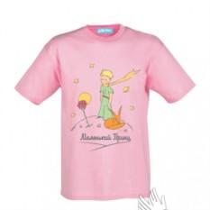 Детская розовая футболка Маленький Принц Классический