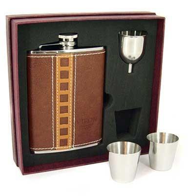 Подарочный набор: фляжка 8oz, 2 стакана, воронка