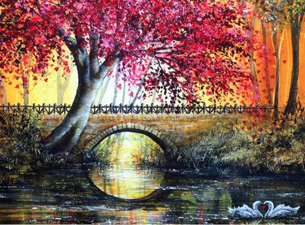 Картины по номерам «Лиловое дерево»