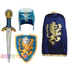 Карнавальный костюм рыцаря синего цвета