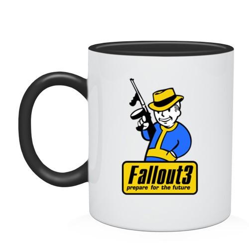 Двухцветная кружка Fallout Man