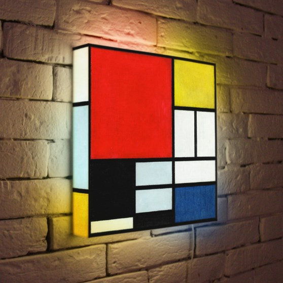 Дизайнерская картина с подсветкой изображения