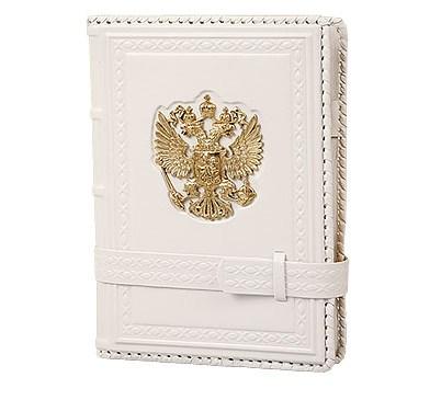 Белый ежедневник формата А5 Россия Златоглавая