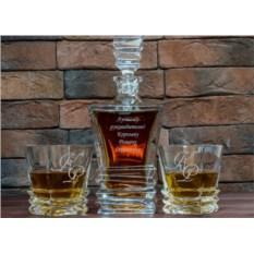 Набор Рокки: штоф и стаканы с гравировкой