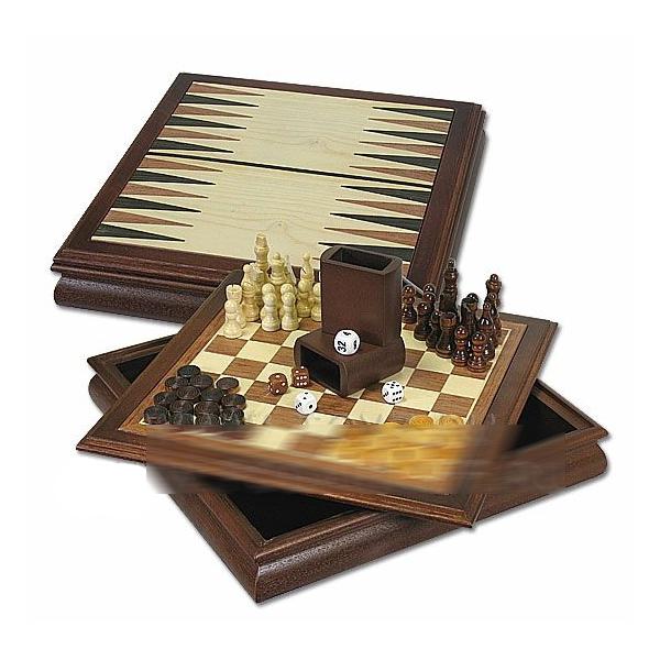 Настольный набор игр: шахматы и шашки