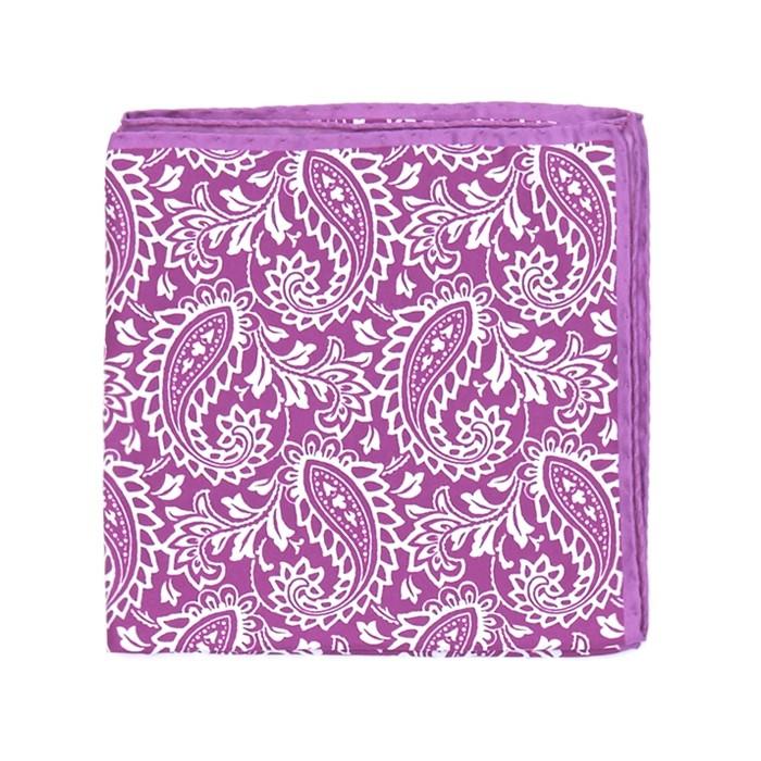 Платок Roda, paisley фиолетовый