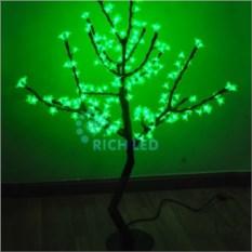 Зеленое светодиодное дерево Сакура 1,1х0,75 м