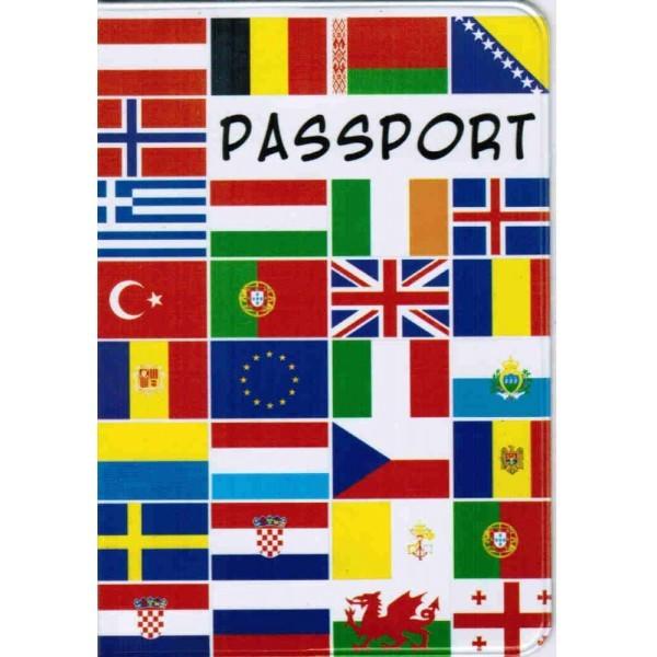 Обложка для паспорта Флаги