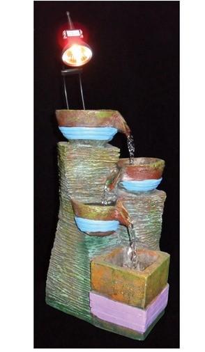 Декоративный фонтан Античный стиль. Кувшины чаши с подсветкой 1