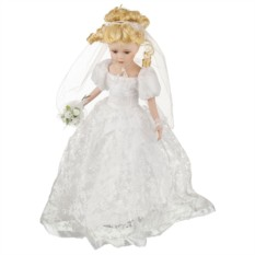 Фарфоровая кукла Невеста с мягконабивным туловищем