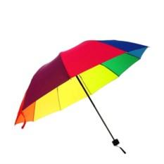 Механический ветроустойчивый зонт Радуга