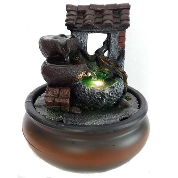 Настольный фонтан со светодиодной подсветкой Таинственный колодец