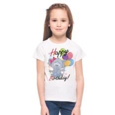 Детская футболка Happy birthday с рисунком Слона