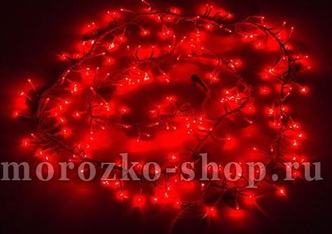 Электрогирлянда Фейерверк, 200 красных микроламп