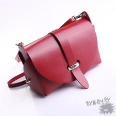 Красная кожаная сумка Марго