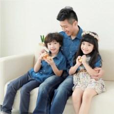Джинсовый комплект Семейный очаг для родителей и сына