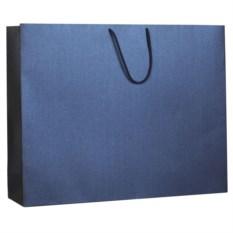 Большой синий бумажный пакет Блеск