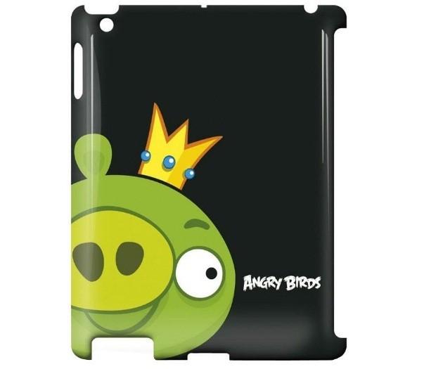 Чехол Gear4 Angry Birds King Pig для new iPad, Green