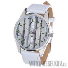 Часы Mitya Veselkov Березы на сером