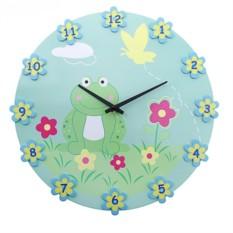 Настенные часы В цветочках лягушечка