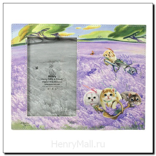 Фоторамка с героями Henry Cats «Лаванда и ветер»