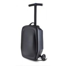 Черный чемодан-самокат