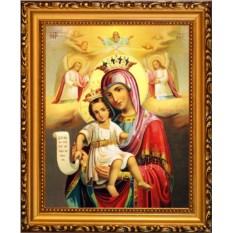 Милующая Икона Божьей Матери на холсте Достойно есть