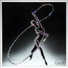 Картина Swarovski Гимнастка