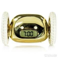 Золотой убегающий будильник Сlocky