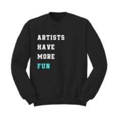 Мужской свитшот с вышивкой ARTISTS HAVE MORE FUN