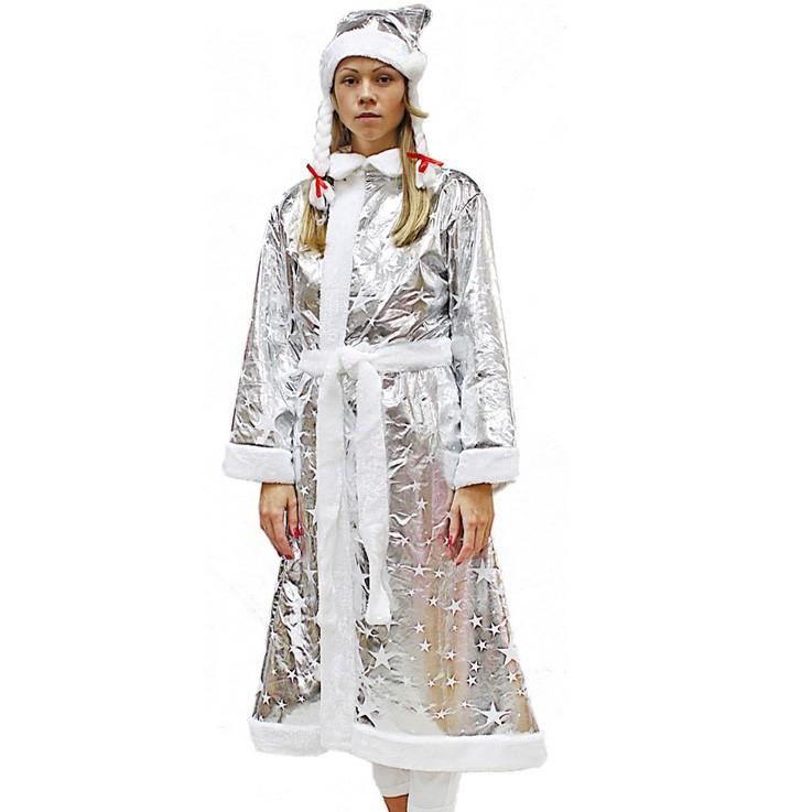 Карнавальный костюм Снегурочка с косами