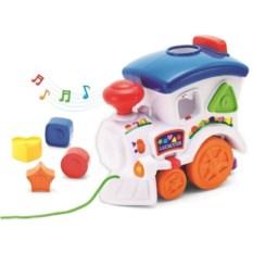 Игрушка Веселый паровозик с пазлами (свет, звук )