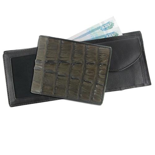 Мужской кошелек из кожи каймана Матовая статусность