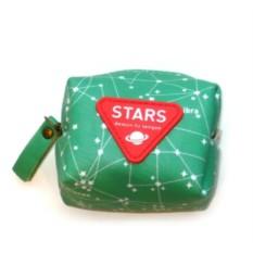Зеленый кошелек для мелочи Stars
