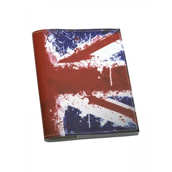Кожанная обложка на автодокументы Британский флаг