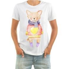 Мужская футболка Собачка в свитере