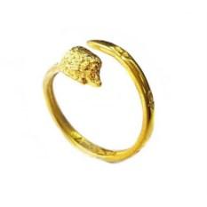 Кольцо-тотем Ёжик из золота 585 пробы