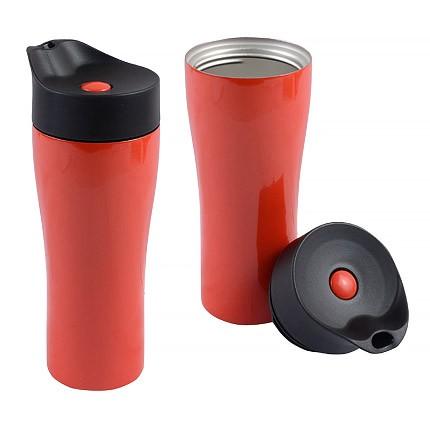 Красный вакуумный термостакан Фабио 370 мл