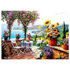 Картина-раскраска по номерам на холсте Терраса