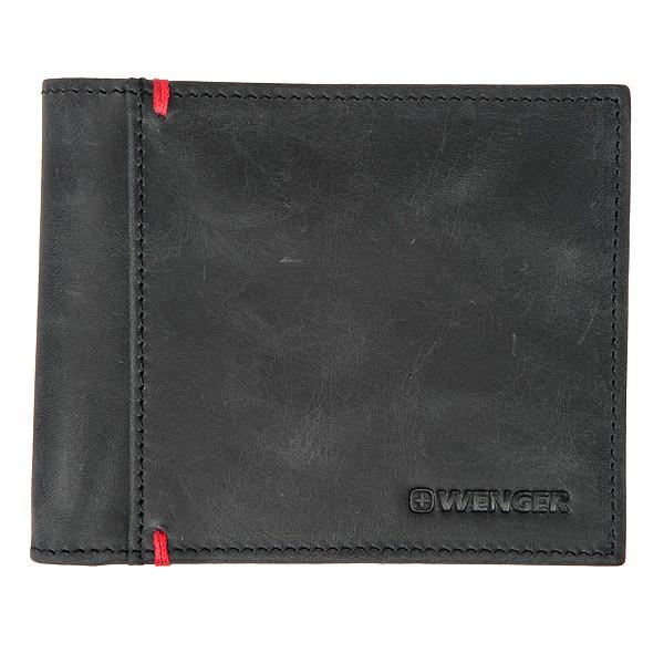 Черное портмоне с монетницей WENGER
