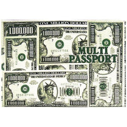 Обложка кожаная для паспорта Мультипаспорт