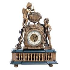 Каминные часы под бронзу в классическом стиле «Виноград»