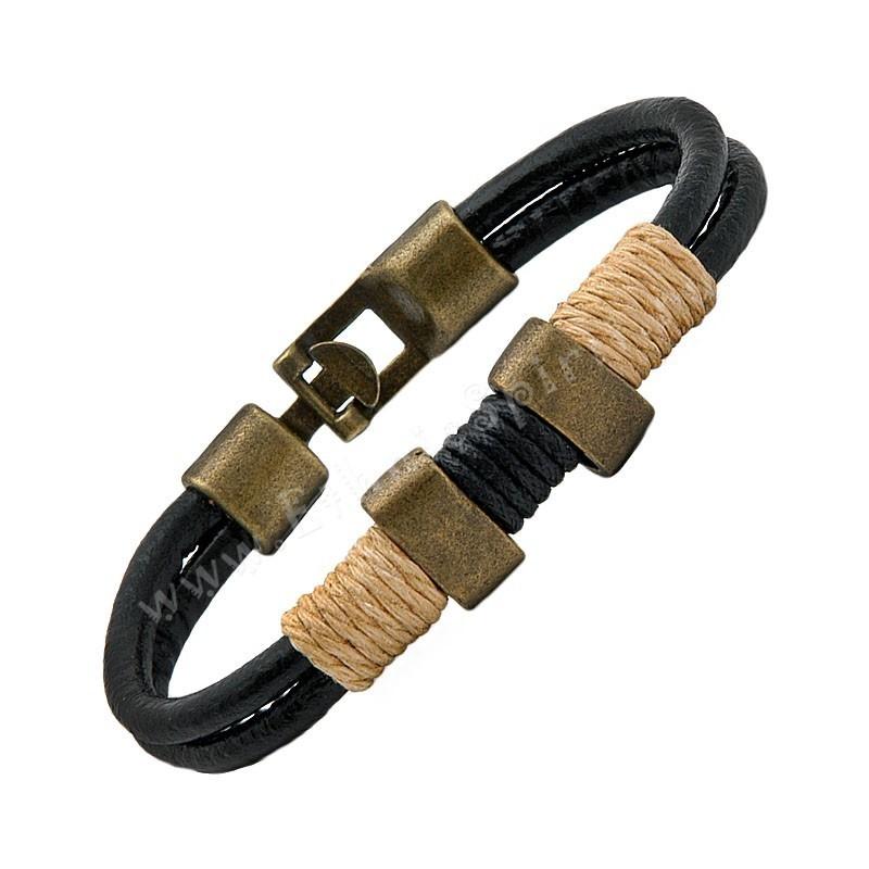 Кожаный браслет Этническая классика-2