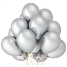 Букет шаров Серый шелк