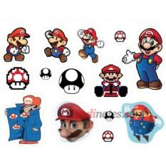 Лист виниловых наклеек Марио
