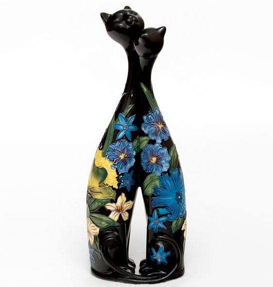 Фарфоровая ваза Влюблённые кошки 25 см