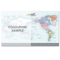 Карта мира-раскраска Color