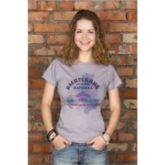 Серая женская именная футболка Выпускнику